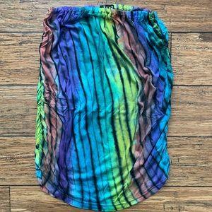 5 for $25- Zebra Colorful Tie Dye Strapless Top